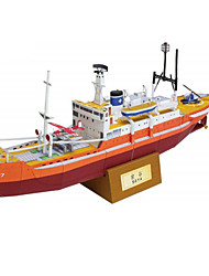 cheap -3D Puzzle Paper Craft Ship DIY Simulation Hard Card Paper Kid's Unisex Boys' Toy Gift