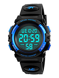 cheap -SKMEI Men's Sport Watch Wrist Watch Digital Watch Japanese Digital Quilted PU Leather Black 50 m Water Resistant / Waterproof Alarm Calendar / date / day Digital Fashion - Black Red Blue / Stopwatch