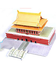 cheap -3D Puzzle Jigsaw Puzzle Paper Model Famous buildings Chinese Architecture House DIY High Quality Paper Classic Kid's Unisex Boys' Girls' Toy Gift