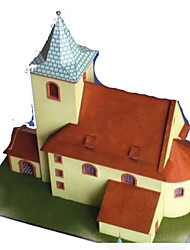 cheap -3D Puzzle Paper Craft Famous buildings House DIY Simulation Hard Card Paper Kid's Unisex Boys' Toy Gift