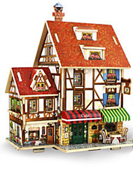 cheap -Robotime 3D Puzzle Jigsaw Puzzle Model Building Kit DIY Wooden Classic Kid's Adults' Unisex Toy Gift