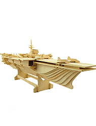 cheap -3D Puzzle Jigsaw Puzzle Model Building Kit Warship Aircraft Carrier Wooden Aircraft Carrier Kid's Adults' Unisex Boys' Girls' Toy Gift / Wooden Model