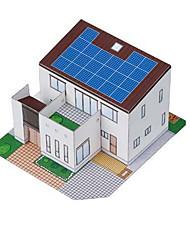 abordables -Jouet à Energie Solaire Puzzles 3D Maquette en Papier Bâtiment Célèbre Maison Solaire Adorable A Faire Soi-Même Classique Unisexe Jouet Cadeau
