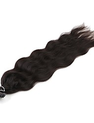 cheap -Fusion / U Tip Human Hair Extensions Curly Natural Wave Human Hair Human Hair Extensions Women's Natural Black