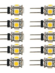 cheap -1.5 W LED Bi-pin Lights 90 lm T 5 LED Beads SMD 5050 Decorative Warm White White 12 V / 10 pcs