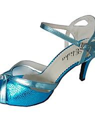 cheap -Women's Latin Shoes Sandal Customized Heel Synthetic Bronze / Black / Red / Indoor / EU39