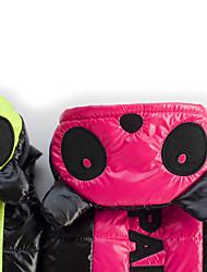 abordables -Chien Manteaux Hiver Vêtements pour Chien Chaud Fuchsia Vert Costume Térylène Lettre et chiffre Garder au chaud S M L XL XXL
