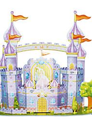cheap -3D Puzzle Jigsaw Puzzle Model Building Kit Castle Famous buildings DIY Card Paper Classic Cartoon Kid's Unisex Toy Gift