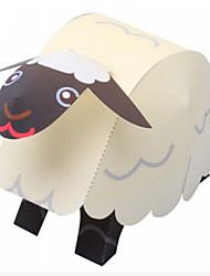Недорогие -3D пазлы Бумажная модель Наборы для моделирования Овечья шерсть Животные Своими руками Классика Мультяшная тематика Детские Универсальные Мальчики Игрушки Подарок