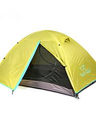 cheap -Trackman® 2 person Tent Outdoor Rain Waterproof Dust Proof Foldable Double Layered Camping Tent 1500-2000 mm for Camping / Hiking Outdoor Nylon Polyester Taffeta
