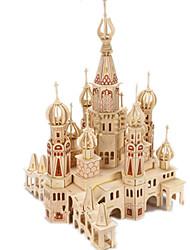 abordables -Puzzles 3D / Puzzle / Kit de Maquette Château / Bâtiment Célèbre / Maison A Faire Soi-Même En bois Classique Enfant Unisexe Cadeau