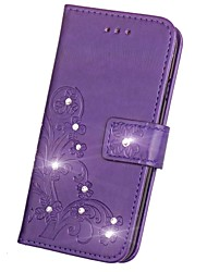cheap -Case For Huawei Honor 7 / Huawei P9 / Huawei P9 Lite P10 Plus / P10 Lite / P10 Wallet / Card Holder / Rhinestone Full Body Cases Solid Colored Hard PU Leather / Huawei P9 Plus / Mate 9 Pro