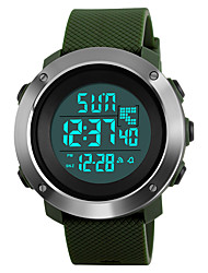 cheap -SKMEI Men's Sport Watch Military Watch Wrist Watch Digital Fashion Water Resistant / Waterproof Digital Black Green Gray / Two Years / Stainless Steel / Quilted PU Leather / Japanese / Alarm