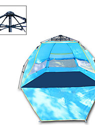 cheap -4 person Automatic Tent Outdoor Rain Waterproof Camping & Hiking Ultraviolet Resistant Single Layered Camping Tent 1000-1500 mm for Camping / Hiking Polyester Taffeta