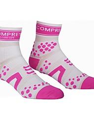 cheap -Compression Socks Running Socks Socks Ankle Socks Fitness, Running & Yoga Moisture Wicking Running Sports Cotton Light Yellow Fuchsia Blue