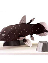 cheap -3D Puzzle Paper Model Model Building Kit Fish Animals DIY Simulation Hard Card Paper Classic Kid's Unisex Toy Gift