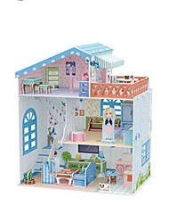 abordables -Puzzles 3D Puzzle Maison de Poupées Maquette en Papier Bâtiment Célèbre En bois Enfant Fille Cadeau