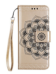 cheap -Case For LG K8 / LG / LG K10 LG G6 Wallet / Card Holder / with Stand Full Body Cases Mandala Hard PU Leather