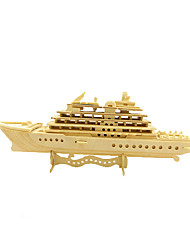 cheap -Jigsaw Puzzle Model Building Kit Wooden Model Warship Aircraft Carrier Fun Wood Classic Aircraft Carrier Kid's Toy Gift