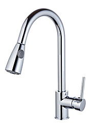 cheap -Kitchen faucet Chrome Standard Spout Centerset  Contemporary / Fashion Kitchen Taps / Brass High Arc