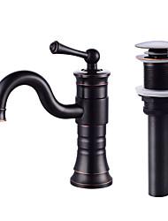 cheap -Centerset Ceramic Valve One Hole Oil-rubbed Bronze, Faucet Set