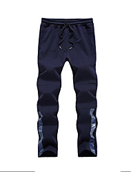 cheap -Men's Track Pants Sports Pants Sweatpants Athletic Pants / Trousers Athleisure Wear Bottoms Cotton Exercise & Fitness Running Casual / Daily Sport Black Dark Blue Gray Simple