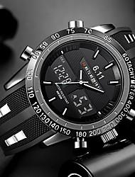 Недорогие -Муж. Наручные часы электронные часы силиконовый Черный Защита от влаги Календарь Творчество Аналого-цифровые Кулоны Роскошь Классика На каждый день Мода - Черный Красный Синий / Два года / Два года