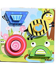 cheap -Toy Car Building Blocks Jigsaw Puzzle Pegged Puzzles Educational Toy Square Animals Kid's Toy Gift