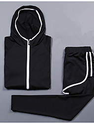cheap -Women's 2-Piece Spandex Workout Set Activewear Set Yoga Suit 2pcs Yoga Running Pilates Cycling Quick Dry Camping & Hiking Sportswear Compression Clothing Long Sleeve Activewear Stretchy