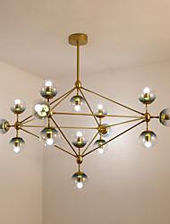 cheap -15-Light 107 cm Mini Style Chandelier Metal Glass Sputnik Painted Finishes Modern Contemporary 110-120V / 220-240V