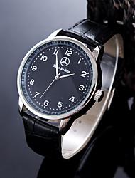 Недорогие -Муж. Спортивные часы Наручные часы Кварцевый Кожа Черный / Коричневый Защита от влаги Творчество Аналоговый Кулоны Классика На каждый день Мода Элегантный стиль - Белый Черный / Один год