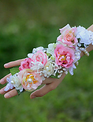 "cheap -Wedding Flowers Wrist Corsages Wedding Cotton 1.97""(Approx.5cm)"