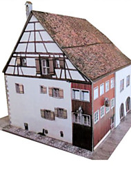 cheap -3D Puzzle Paper Craft Famous buildings DIY Hard Card Paper Unisex Toy Gift