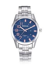 cheap -jewelora Men's Fashion Watch Dress Watch Wrist Watch Quartz Stainless Steel Silver 30 m Water Resistant / Waterproof Shock Resistant Large Dial Analog Luxury Vintage Casual - White LightBlue