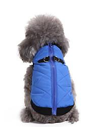 abordables -Chien Manteaux Hiver Vêtements pour Chien Orange Rouge Bleu Costume Térylène Couleur Pleine Garder au chaud XS S M L XL