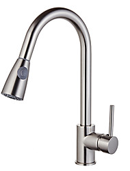 cheap -Kitchen faucet Nickel Brushed Standard Spout Vessel Modern Contemporary / Fashion Kitchen Taps / Brass High Arc