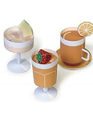 Недорогие -3D пазлы Игрушечная еда Оригами Продукты питания Своими руками моделирование Классика Детские Универсальные Игрушки Подарок