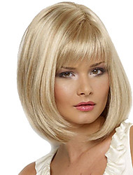 cheap -Synthetic Wig Straight Straight Wig Blonde Medium Length Blonde Synthetic Hair Women's Blonde
