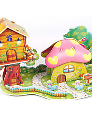 cheap -3D Puzzle Jigsaw Puzzle Paper Model House Mushroom DIY High Quality Paper Classic Kid's Unisex Boys' Girls' Toy Gift