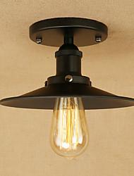 cheap -1-Light 22 cm Anti-Glare / Bulb Included / Designers Flush Mount Lights Metal Painted Finishes Retro 110-120V / 220-240V / E26 / E27