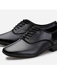 cheap -Men's Latin Shoes / Ballroom Shoes Cowhide Heel Customizable Dance Shoes Black / Practice