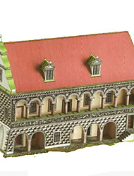 cheap -3D Puzzle Paper Craft Famous buildings House DIY Hard Card Paper Kid's Unisex Boys' Toy Gift