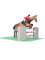 cheap -3D Puzzle Paper Model Model Building Kit Sports Horse DIY Competition Classic Unisex Toy Gift