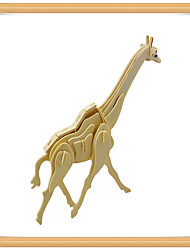 cheap -3D Puzzle Jigsaw Puzzle Model Building Kit Deer Animals DIY Wooden Kid's Toy Gift