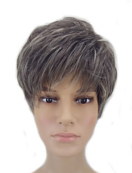 cheap -Synthetic Wig Straight Straight Pixie Cut Wig Short Grey Synthetic Hair Women's Gray hairjoy