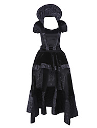 cheap -Queen Cosplay Costume Party Costume Women's Christmas Halloween Carnival Festival / Holiday Terylene Black Carnival Costumes Vintage