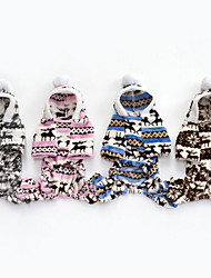 cheap -Dog Coat Hoodie Jumpsuit Winter Dog Clothes Brown Blue Pink Costume Down Cotton Christmas Casual / Daily