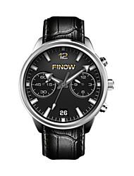cheap -Men's Smartwatch Digital Leather Black Analog Black Silver / Black