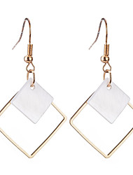 cheap -Women's Drop Earrings Personalized Geometric Dangling Classic Bohemian Simple Style Silver Plated Gold Plated Earrings Jewelry Gold / Silver For Christmas Christmas Gifts Wedding Party Special