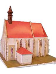 abordables -Puzzles 3D Loisirs Créatifs en Papier Moulin à vent Bâtiment Célèbre Maison A Faire Soi-Même Papier cartonné Classique Enfant Unisexe Garçon Jouet Cadeau